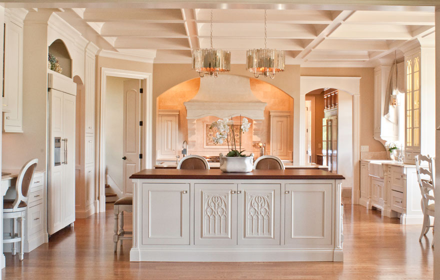 Completely custom at every turn, this show-stopping kitchen gets attention.