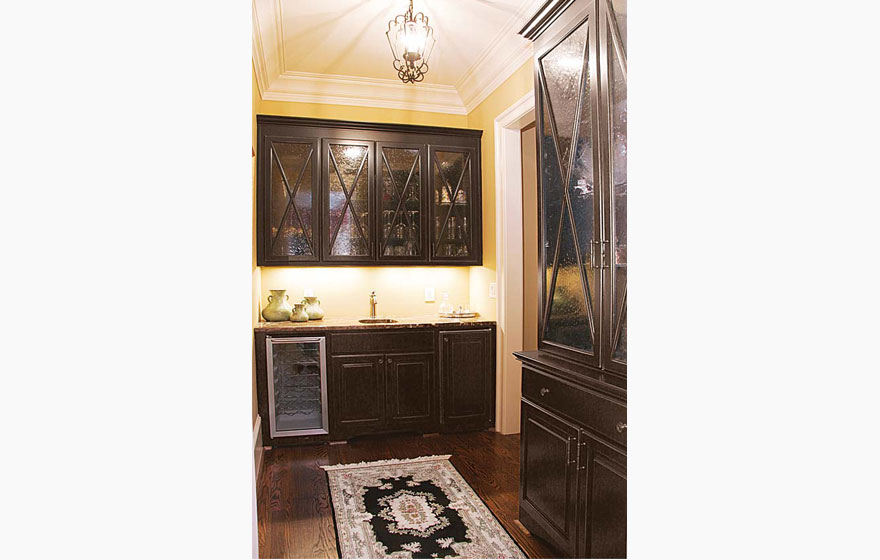 Custom French Lite Doors are a great way to add character and style to upper cabinets.