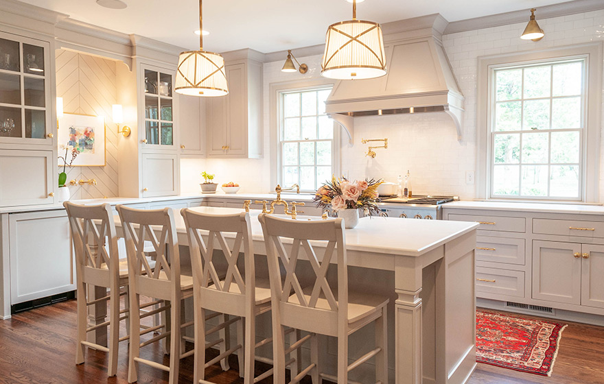 Timeless design details create an elegant and beautiful space