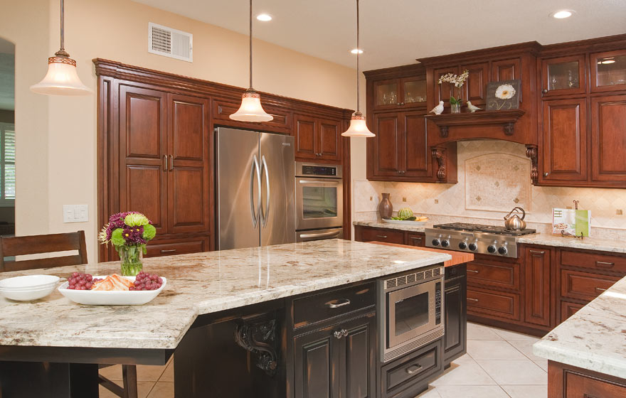 A dramatic remodel provides maximized space and an updated look.
