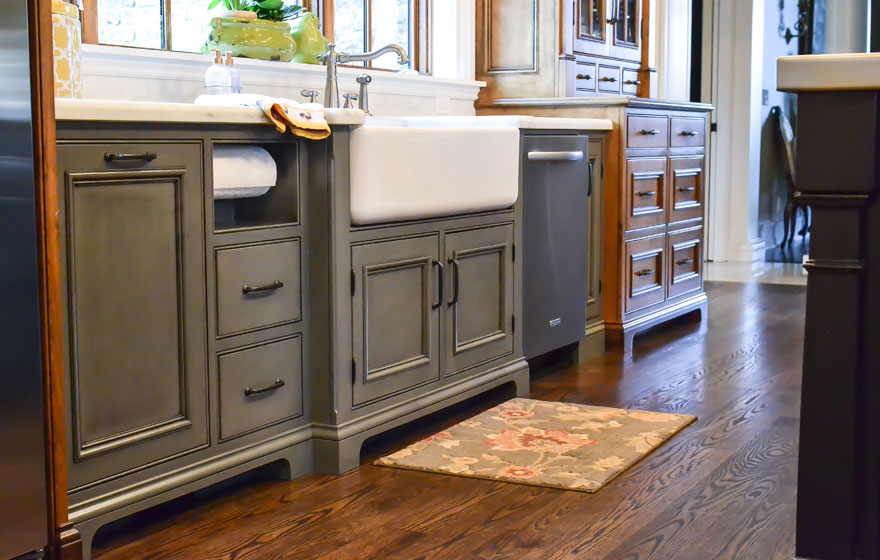 """Streamline® RTA Cabinets and Designer Face Frames build a beautiful foundation for San Marino 3/4"""" (580) Doors."""