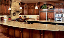 "Tuscany 3/4"" (590) Kitchen with Radius Wainscot - 10115"