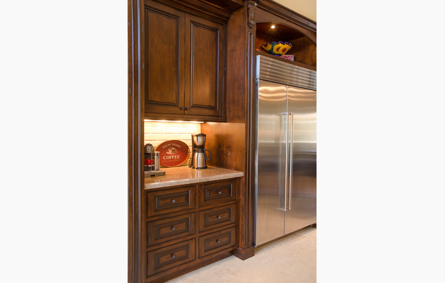 """This beautiful space is accented with the details of the Tuscany 3/4"""" (590) Door."""