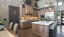 Rough Sawn Walnut Kitchen - 10403