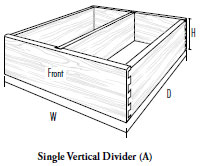 Single Vertical Divider (A)
