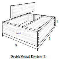 Double Vertical Dividers (B)