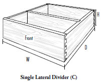 Single Lateral Divider (C)