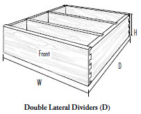 Double Lateral Dividers (D)