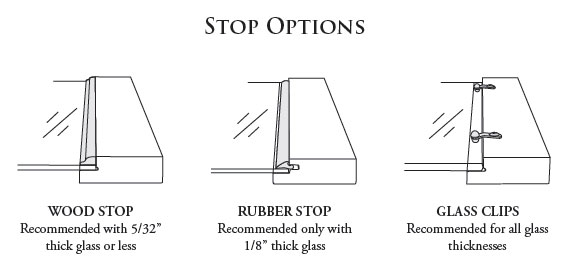 Glass Stop options