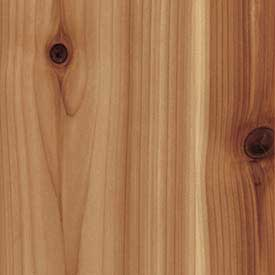 Cedar Knotty Western Red Finish Grade