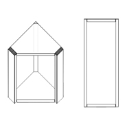 Corner Diagonal Upper Cabinet