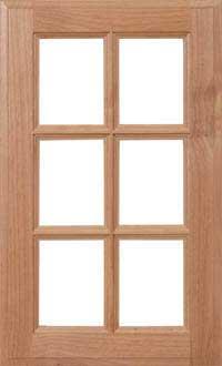 "Square 3/4"" Recessed French Lite Door"