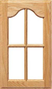 """Cathedral Arch 3/4"""" Recessed French Lite Door"""