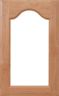 """Cathedral Arch 3/4"""" Recessed Glass Door"""
