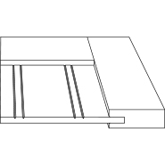 "3D Profile for Bayshore 3/4"" door."