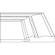 """3D profile for Crofton 3/4"""" door."""