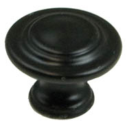 Matte Black Traditional Knob