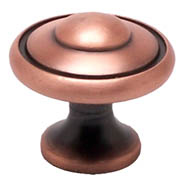 Brushed Antique Copper Bead Knob