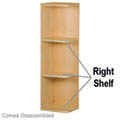 "Right Shelves - 9"" W x 11-1/4"" H (2"" Radius)"