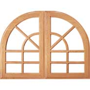 "Specialty 1/4"" Circle French Lite w/ Arched Outer Frame"