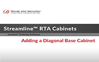 Streamline® RTA Cabinets - Adding a Diagonal Base Cabinet