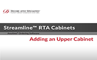 Streamline® RTA Cabinets - Adding an Upper Cabinet