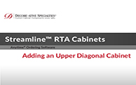 Streamline® RTA Cabinets - Adding an Upper Diagonal Cabinet
