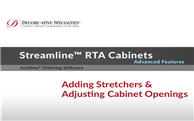 Streamline® RTA Cabinets: Adding Stretchers & Adjusting Cabinet Openings