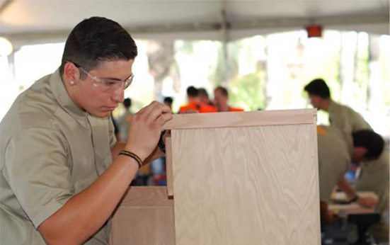 Aspiring Woodworkers Compete at the 2017 SkillsUSA