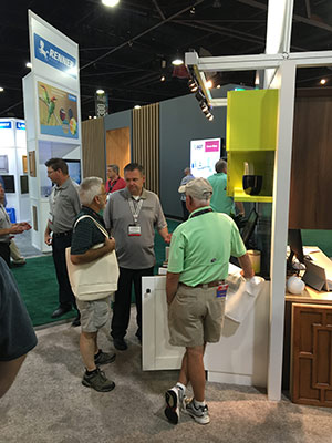 Ed Anderson, Southeast Regional Sales Manager, sharing the benefits of our custom color matching (Tier 3), Solvent-Based Finishing from Monroe, NC.