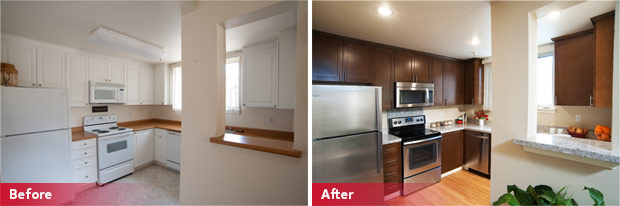 Before and After of Stanford Multi-Family Unit Makeover