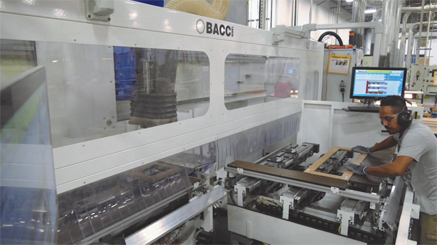 The BACCI CNC machine in Decore-ative Specialties' plant in Monroe, North Carolina.