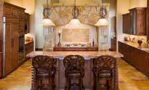 Malibu Kitchen in Rustic Knotty Alder - 10191
