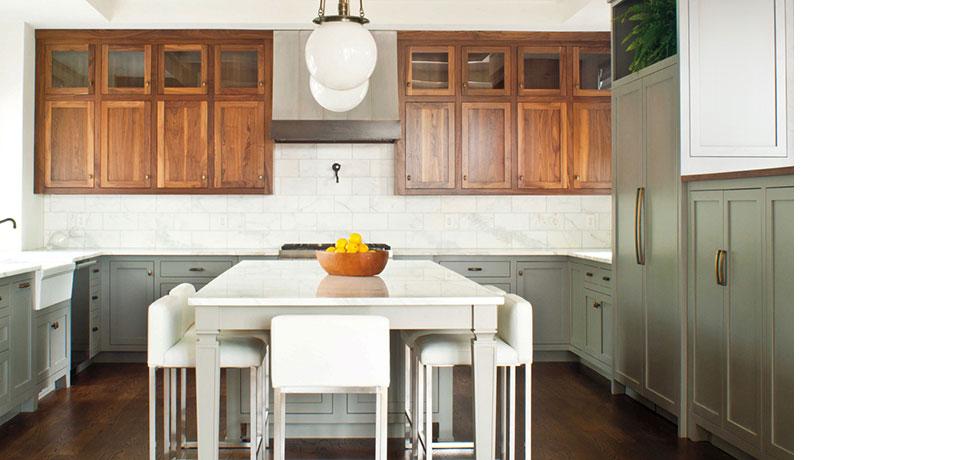 Stunningly Simple Walnut Kitchen
