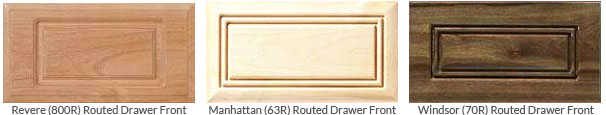 Examples of Routed Drawer Fronts