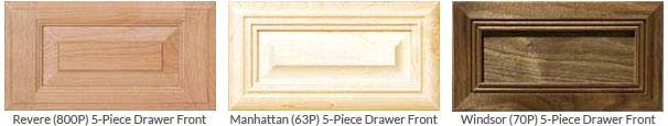 Examples of 5-Piece Drawer Fronts