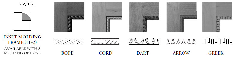 Inset Molding Face Frame Profiles