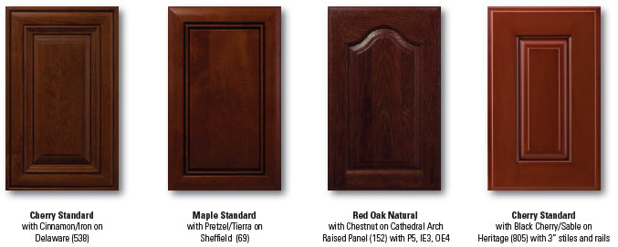 Doors, drawer boxes, and wood moldings are available in FSC certified species