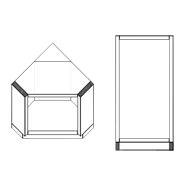Corner Diagonal Base Cabinet