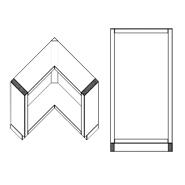 Corner Right Angle Base Cabinet