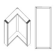 Corner Right Angle Upper Cabinet