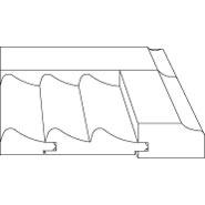 """3D profile for Talbot 7/8"""" door."""