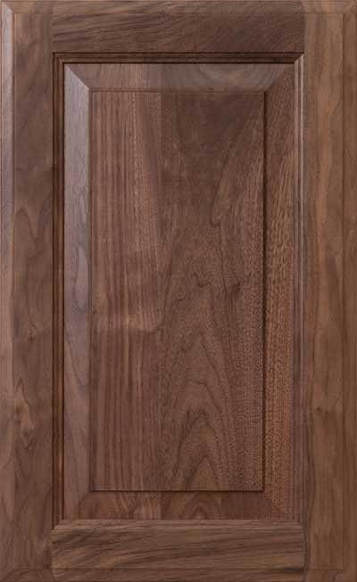 Revere 3/4\  (800) in Walnut Select & Walnut | Wood Cabinet Door and Drawer Materials | Decore.com