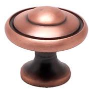 Brushed Antique Copper Bead Knob