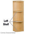 "Left Shelves - 9"" W x 11-1/4"" H (2"" Radius)"