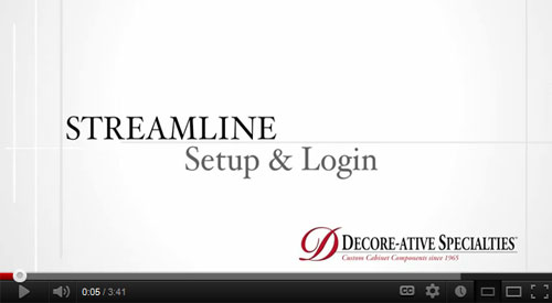 Streamline Frameless Components Account Set-Up (video)