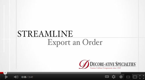 How to Export an Order from Streamline (video)