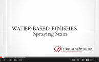 Staining Cabinets with Water-based Finish  (video)