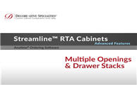 Streamline™ RTA Cabinets: Multiple Openings & Drawer Stacks